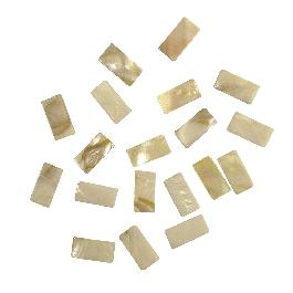 Gyöngyházas mozaik, 10x20 mm, kb.40 db/40g