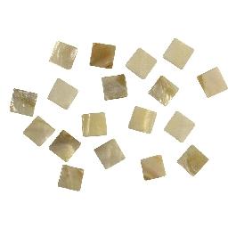 Gyöngyházas mozaik, 12x12 mm, kb.52 db/40g