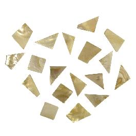 Gyöngyházas mozaik, töredékek, kb.60 db/40g