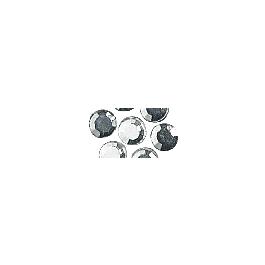Felvasalható üveg strasszkövek, 5 mm, kristály, csom. 45 db