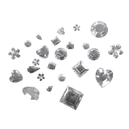 Akril strasszkövek, 5-14 mm, kristály, kül. méret és forma, 1000 db