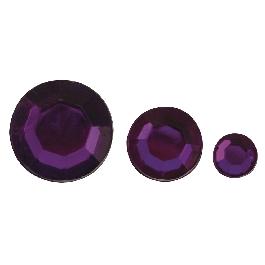 Akril strasszkövek, lila, 6,10,14 mm, 310 db