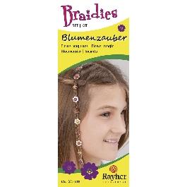 Braidy hajdísz virágvarázs, 33 db-os készlet, hossz kb. 25 cm