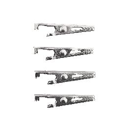 Krokodilcsipesz, 35 mm, platina, csom. 4 db