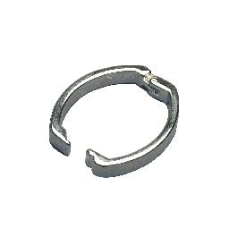 Klipszes ékszerkapocs, ezüst, 25x20 mm, 1 db