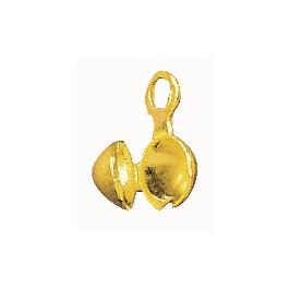 Csomórejtő, 4 mm, arany, nikkelmentes, nagy kisz.