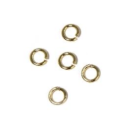 Szerelőkarika, kerek, 4,6 mm, arany, 1 mm, 30 db