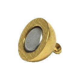Mágneskapocs, extra erős, 10 mm, aranyozott