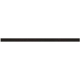Műbőr szalag, lapos, 4 mm, fekete