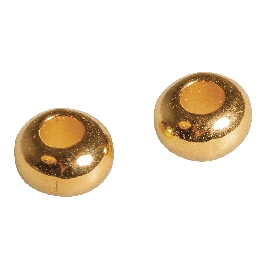 Fémgyöngy, 6mm átm.,arany, lyuk 2mm átm.