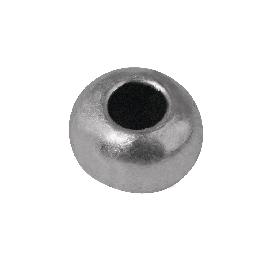 Fémgyöngy, 8 mm átm.,ezüst, lyuk 3 mm átm.