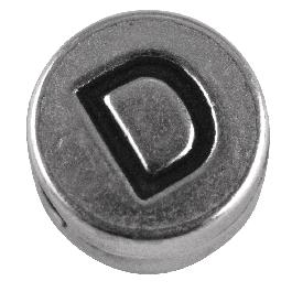 Fémgyöngy D, nikkelmentes, ezüst, átm. 7 mm, lyuk 2 mm