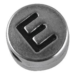Fémgyöngy E, nikkelmentes, ezüst, átm. 7 mm, lyuk 2 mm