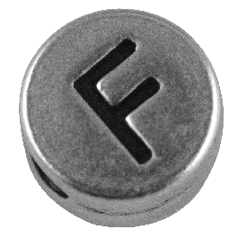 Fémgyöngy F, nikkelmentes, ezüst, átm. 7 mm, lyuk 2 mm