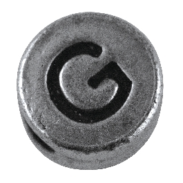 Fémgyöngy G, nikkelmentes, ezüst, átm. 7 mm, lyuk 2 mm