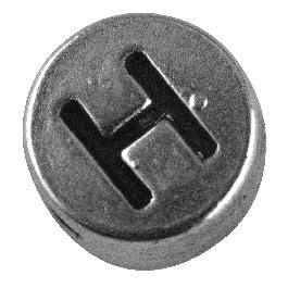 Fémgyöngy H, nikkelmentes, ezüst, átm. 7 mm, lyuk 2 mm