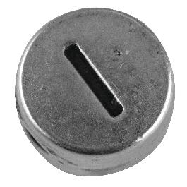 Fémgyöngy I, nikkelmentes, ezüst, átm. 7 mm, lyuk 2 mm