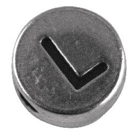 Fémgyöngy L, nikkelmentes, ezüst, átm. 7 mm, lyuk 2 mm