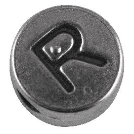 Fémgyöngy R, nikkelmentes, ezüst, átm. 7 mm, lyuk 2 mm