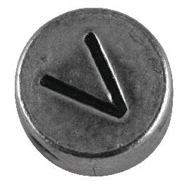 Fémgyöngy V, nikkelmentes, ezüst, átm. 7 mm, lyuk 2 mm