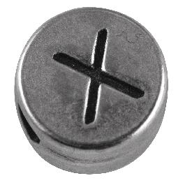 Fémgyöngyök, Q és X nikkelmentes, ezüst, átm. 7 mm, lyuk 2 mm