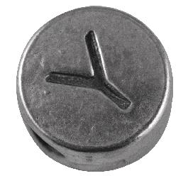 Fémgyöngyök, Y és Z, nikkelmentes, ezüst, átm. 7 mm, lyuk 2 mm