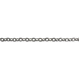 Szemes lánc, alu, ezüst, 13x10mm