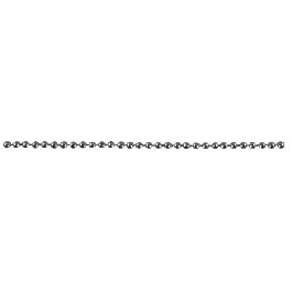 Sárgaréz golyós lánc, 0,8mm átm.,platina