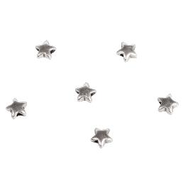 Fémgyöngy csillag, 5mm, ezüst