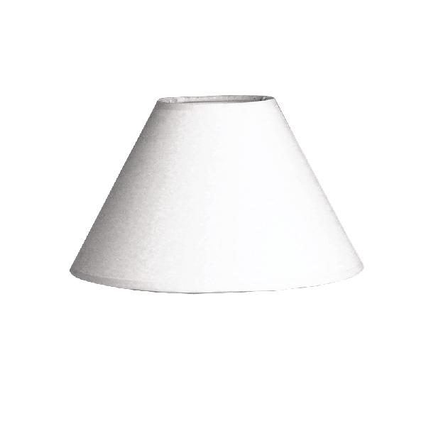 Lámpaernyő, kerek, fehér, 19,5 cm, magasság 12,5 cm