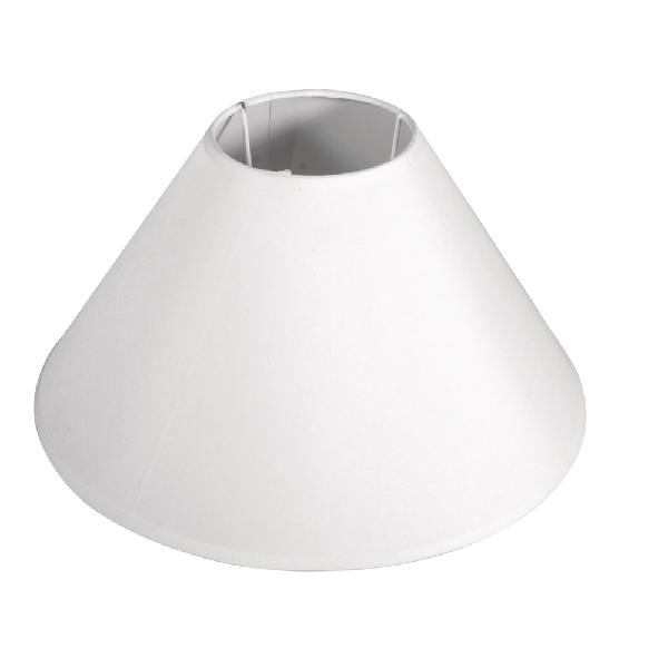 Lámpaernyő, kúpos, kerek, fehér, 12-35 cm átm., magasság 22 cm