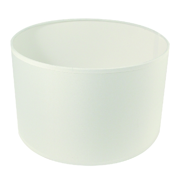 Lámpaernyő, kerek, fehér, 25 cm átm.,magasság 15 cm