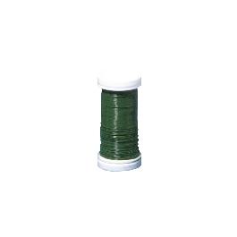 Virágkötő drót, söt.zöld, átm. 0,35 mm, 55 m/tek.