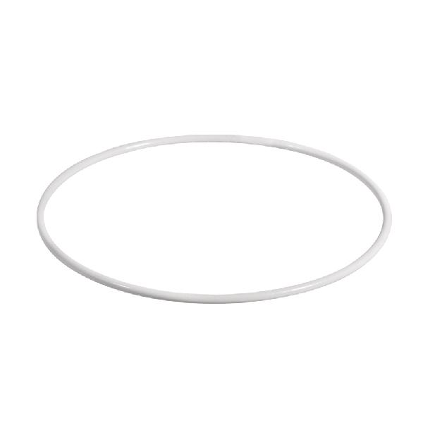 Fémkarika pl.lámpaburához, fehér, 15 cm átm.