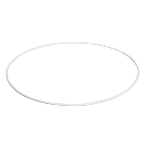 Fémkarika pl.lámpaburához, fehér, 20 cm átm.