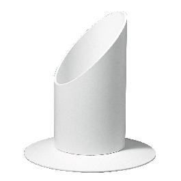 Gyertyatartó, 30 mm átm.,fehér