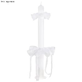 Gyertyatartó, 40 mm átm.,fehér