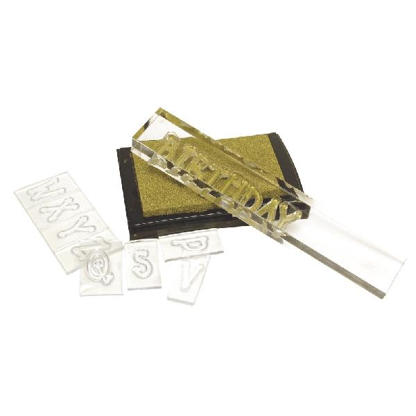 Akrilkocka-készlet szilikonbélyegzőhöz, csom. 3 méret