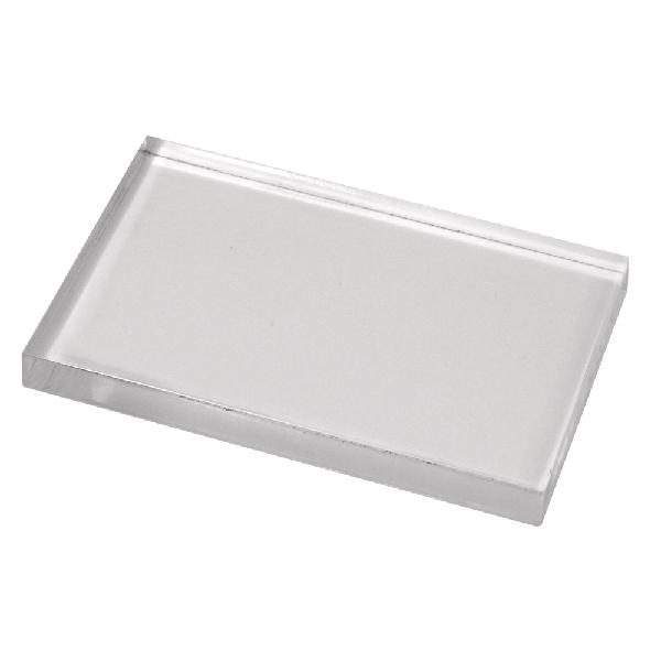 Akril bélyegzőblokk, 5x8 cm, 8 mm vastag