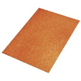 Csillámos dekorgumi, narancssárga, 30x45x0,2 cm