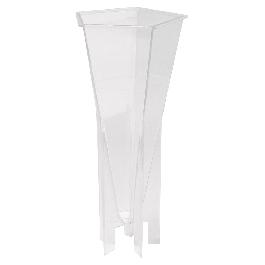 Gyertyaöntő forma 5-szögl.,átm. 76 mm, 17 cm, tűvel és kanóccal