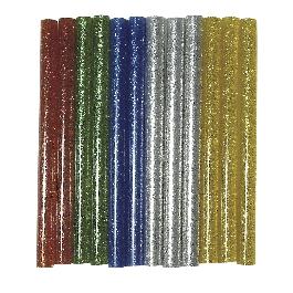 Csillámos ragasztópisztoly-betét, vegyes, 10 cm, csom. 12 db