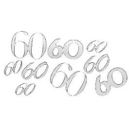 Matrica 60, ezüst, 10x24,5 cm