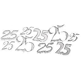 Matrica 25, ezüst, ív 10x24,5 cm