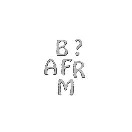 Matrica-felirat ABC, 10 mm, ezüst, 10x24,5 cm