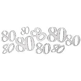 Matrica 80, ezüst, 10x24,5 cm