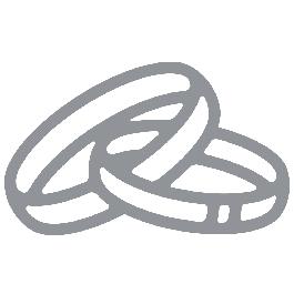 Matrica, jegygyűrűk, ezüst, 10x24,5 cm