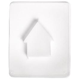 Öntőforma: ház, motívum 6 x 7 x 1,7 cm