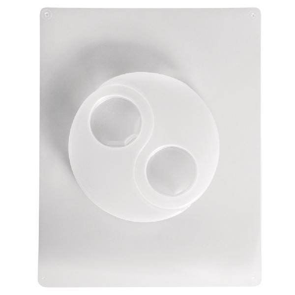 Öntőforma: mécsestartó, Yin Yang, 2 motívum, 12x8 cm