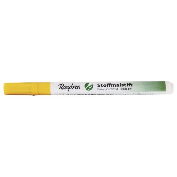 Textilfestő toll, vékony hegyű, sárga